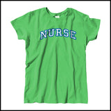 MISSY NURSE T-SHIRT • Collegiate Arched Text Nurse Tee Shirt Design-MSST-4412 - Rhino Junction Apparel - 4