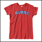 MISSY NURSE T-SHIRT • Collegiate Arched Text Nurse Tee Shirt Design-MSST-4412 - Rhino Junction Apparel - 3