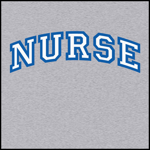 MISSY NURSE T-SHIRT • Collegiate Arched Text Nurse Tee Shirt Design-MSST-4412 - Rhino Junction Apparel - 1