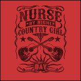 JUNIOR NURSE T-SHIRT •Nurse by Night-Country Girl by Day! FREE SHIPPING- JSST-4414 - Rhino Junction Apparel - 1