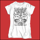JUNIOR NURSE T-SHIRT •Nurse by Night-Country Girl by Day! FREE SHIPPING- JSST-4414 - Rhino Junction Apparel - 2
