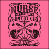 MISSY NURSE T-SHIRT •Nurse by Night-Country Girl by Day! FREE SHIPPING- MSST-4414 - Rhino Junction Apparel - 1