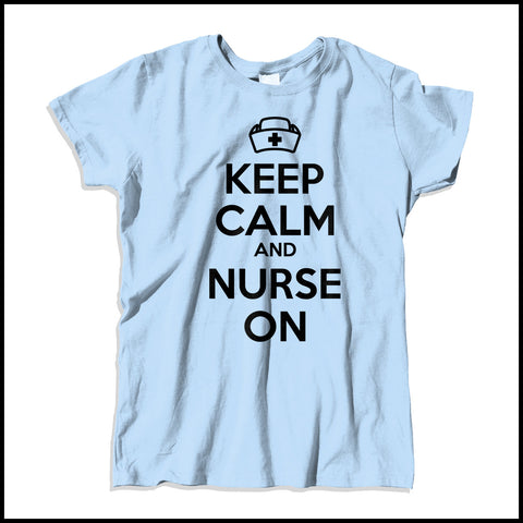 MISSY NURSE T-SHIRT • KEEP CALM and NURSE ON• Free Shipping!-MSST-4419 - Rhino Junction Apparel - 3