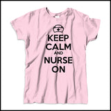 MISSY NURSE T-SHIRT • KEEP CALM and NURSE ON• Free Shipping!-MSST-4419 - Rhino Junction Apparel - 4