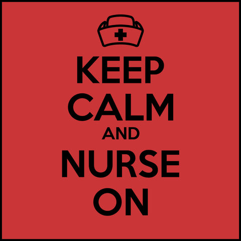 MISSY NURSE T-SHIRT • KEEP CALM and NURSE ON• Free Shipping!-MSST-4419 - Rhino Junction Apparel - 1