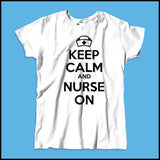 MISSY NURSE T-SHIRT • KEEP CALM and NURSE ON• Free Shipping!-MSST-4419 - Rhino Junction Apparel - 2