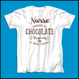 ADULT NURSE T-SHIRT • NURSE: POWERED BY CHOCOLATE! • Free Shipping! - ASST-4428 - Rhino Junction Apparel - 4