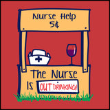 ADULT NURSE T-SHIRT • Cute Graphic!!! OFF DUTY NURSE - Out Drinking!- ASST-4430 - Rhino Junction Apparel - 1