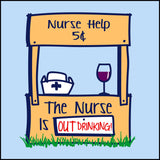 JUNIORS NURSE T-SHIRT • Cute Graphic!!! OFF DUTY NURSE - Out Drinking!- JSST-4430 - Rhino Junction Apparel - 1