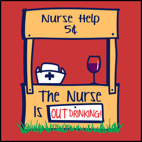 MISSY NURSE T-SHIRT • Cute Graphic!!! OFF DUTY NURSE - Out Drinking!- MSST-4430 - Rhino Junction Apparel - 1