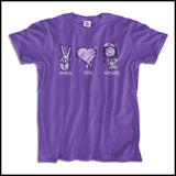 ADULT NURSE T-SHIRT - PEACE • LOVE • NURSES! • Cute Nurse Tee!  -ASST-4432 - Rhino Junction Apparel - 3