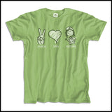 ADULT NURSE T-SHIRT - PEACE • LOVE • NURSES! • Cute Nurse Tee!  -ASST-4432 - Rhino Junction Apparel - 4