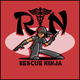 ADULT NURSE T-SHIRT • RN stands for RESCUE NINJA! Cool Graphic Tee! ASST-4434 - Rhino Junction Apparel - 1