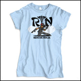 JUNIORS NURSE T-SHIRT • RN stands for RESCUE NINJA! Cool Graphic Tee! JSST-4434 - Rhino Junction Apparel - 3
