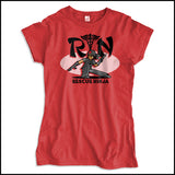 JUNIORS NURSE T-SHIRT • RN stands for RESCUE NINJA! Cool Graphic Tee! JSST-4434 - Rhino Junction Apparel - 2