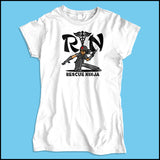 JUNIORS NURSE T-SHIRT • RN stands for RESCUE NINJA! Cool Graphic Tee! JSST-4434 - Rhino Junction Apparel - 4