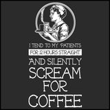MISSY NURSE T-SHIRT • Nurse... Silently Screams for Coffee! - Funny!   MSST-4437 - Rhino Junction Apparel - 1