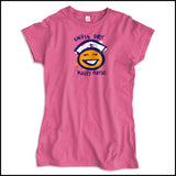 JUNIORS NURSE T-SHIRT • SHIFT'S OVER = HAPPY NURSE Smiley Face Tee!  -JSST-4438 - Rhino Junction Apparel - 2