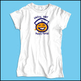 JUNIORS NURSE T-SHIRT • SHIFT'S OVER = HAPPY NURSE Smiley Face Tee!  -JSST-4438 - Rhino Junction Apparel - 4