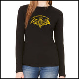 NURSES-LADIES LONG SLEEVE  • I WORK NIGHT SHIFT-I AM BAT NURSE!- LLST-4405 - Rhino Junction Apparel - 2