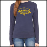 NURSES-LADIES LONG SLEEVE  • I WORK NIGHT SHIFT-I AM BAT NURSE!- LLST-4405 - Rhino Junction Apparel - 4