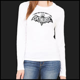 NURSES-LADIES LONG SLEEVE  • I WORK NIGHT SHIFT-I AM BAT NURSE!- LLST-4405 - Rhino Junction Apparel - 5