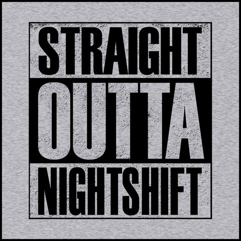 ADULT NURSE T-SHIRT • Straight Outta Night Shift! • Compton Parody-ASST-4408 - Rhino Junction Apparel - 1