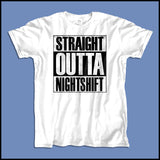 ADULT NURSE T-SHIRT • Straight Outta Night Shift! • Compton Parody-ASST-4408 - Rhino Junction Apparel - 2
