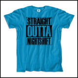 ADULT NURSE T-SHIRT • Straight Outta Night Shift! • Compton Parody-ASST-4408 - Rhino Junction Apparel - 4