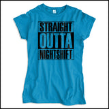 JUNIORS NURSE T-SHIRT • Straight Outta Night Shift! • Compton Parody-JSST-4408 - Rhino Junction Apparel - 3
