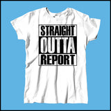 MISSY NURSE T-SHIRT • STRAIGHT OUTTA REPORT- COMPTON PARODY•COOL TEE! MSST-4410 - Rhino Junction Apparel - 4