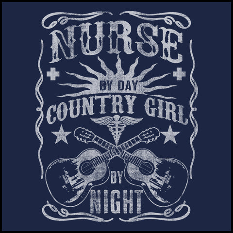 MISSY NURSE T-SHIRT • Nurse by Day-Country Girl by Night! •Nurse Tee-MSST-4415 - Rhino Junction Apparel - 1