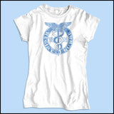 JUNIORS NURSE T-SHIRT • VINTAGE FADED RN CADUCEUS TEE • JSST-4418 - Rhino Junction Apparel - 2