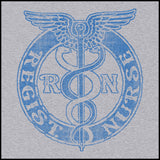 MISSY NURSE T-SHIRT • VINTAGE FADED RN CADUCEUS TEE • MSST-4418 - Rhino Junction Apparel - 1