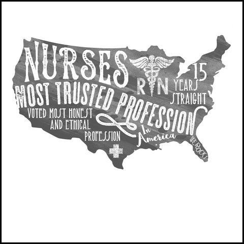 JUNIORS NURSE T-SHIRT• Nurses-The Most Trusted Profession Tee- JSST-4424 - Rhino Junction Apparel - 1