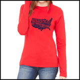 NURSES-LADIES LONG SLEEVE  • Nurses-The Most Trusted Profession LST    LLST-4424 - Rhino Junction Apparel - 3