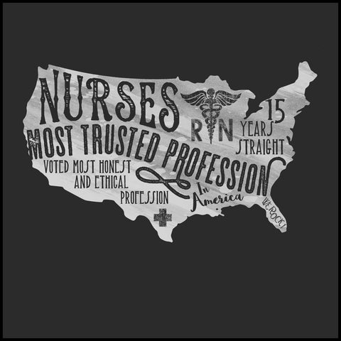 MISSYS NURSE T-SHIRT• Nurses-The Most Trusted Profession Tee- MSST-4424 - Rhino Junction Apparel - 1