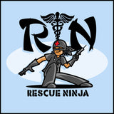 MISSY NURSE T-SHIRT • RN stands for RESCUE NINJA! Cool Graphic Tee! MSST-4434 - Rhino Junction Apparel - 1