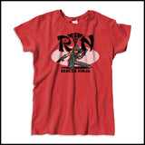 MISSY NURSE T-SHIRT • RN stands for RESCUE NINJA! Cool Graphic Tee! MSST-4434 - Rhino Junction Apparel - 2