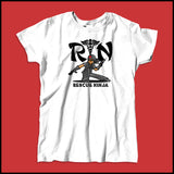 MISSY NURSE T-SHIRT • RN stands for RESCUE NINJA! Cool Graphic Tee! MSST-4434 - Rhino Junction Apparel - 4
