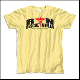 ADULT NURSE T-SHIRT • RN: Rescue Ninja- Saving you from Yourself! LOL!-ASST-4435 - Rhino Junction Apparel - 3