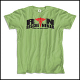 ADULT NURSE T-SHIRT • RN: Rescue Ninja- Saving you from Yourself! LOL!-ASST-4435 - Rhino Junction Apparel - 4
