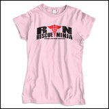 JUNIORS NURSE T-SHIRT • RN: Rescue Ninja- Saving you from Yourself! LOL!-JSST-4435 - Rhino Junction Apparel - 4