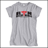 JUNIORS NURSE T-SHIRT • RN: Rescue Ninja- Saving you from Yourself! LOL!-JSST-4435 - Rhino Junction Apparel - 2