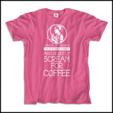 Adult NURSE T-SHIRT • Nurse... Silently Screams for Coffee! - Funny!   ASST-4437 - Rhino Junction Apparel - 2