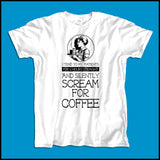 Adult NURSE T-SHIRT • Nurse... Silently Screams for Coffee! - Funny!   ASST-4437 - Rhino Junction Apparel - 3