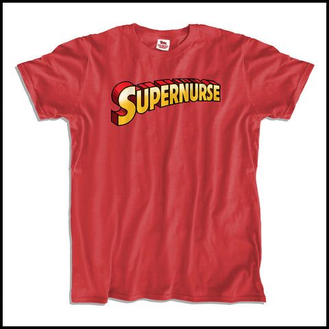 ADULT NURSE T-SHIRT • Its a bird, It's a plane, It's...SUPER NURSE! ASST-4440 - Rhino Junction Apparel - 2