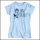 JUNIORS NURSE T-SHIRT • URINE TROUBLE! • Funny Nurse Tee! LMAO! - JSST-4444 - Rhino Junction Apparel - 2