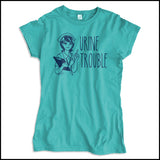 JUNIORS NURSE T-SHIRT • URINE TROUBLE! • Funny Nurse Tee! LMAO! - JSST-4444 - Rhino Junction Apparel - 3