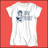 JUNIORS NURSE T-SHIRT • URINE TROUBLE! • Funny Nurse Tee! LMAO! - JSST-4444 - Rhino Junction Apparel - 4